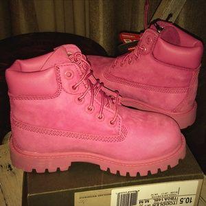 Timberland Bubblegum Pink Boots